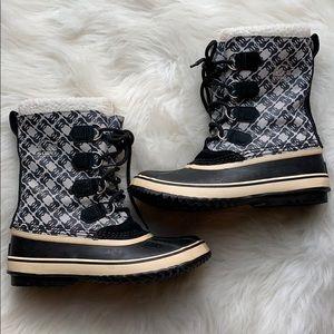 Sorel Caribou monogram print waterproof snow boots